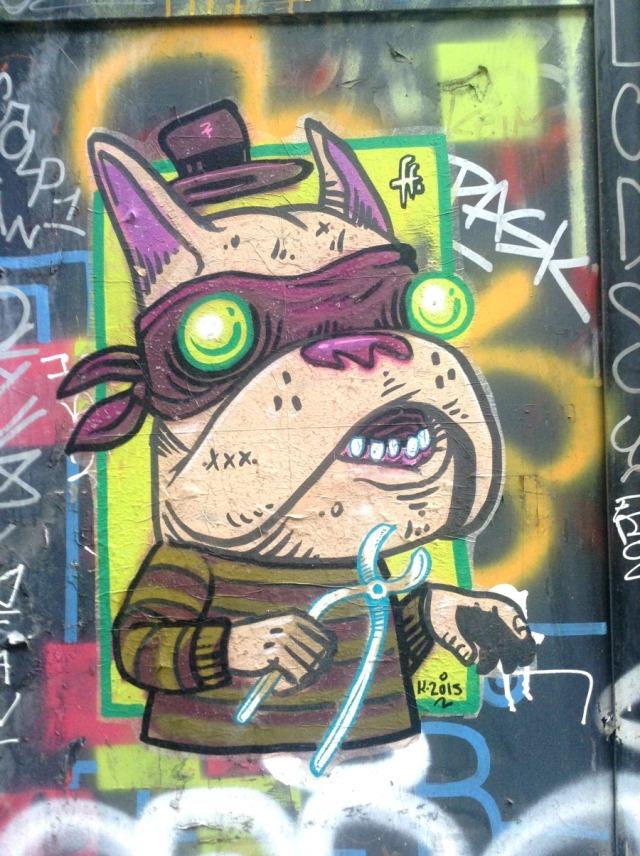 Barcelona - bandit graffiti