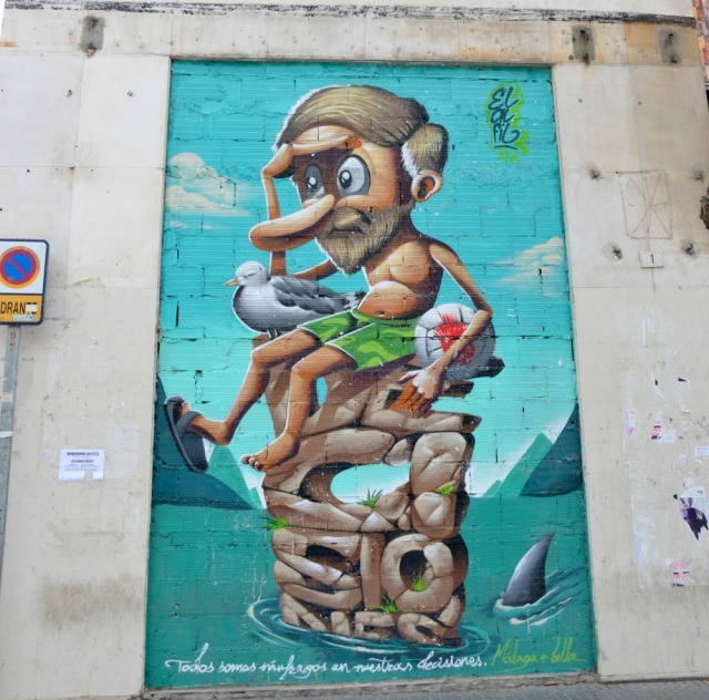 Malaga beach mural