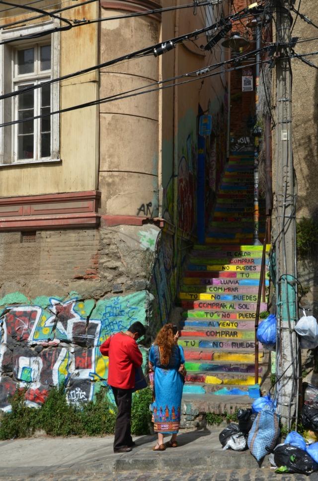 Chile - Valparaiso staircase